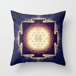 Sri Yantra IX Throw Pillow