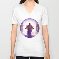 christ V-neck T-shirts featuring Christ-Kay by Disk System