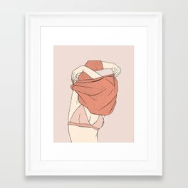 Sweater Struggles Framed Art Print