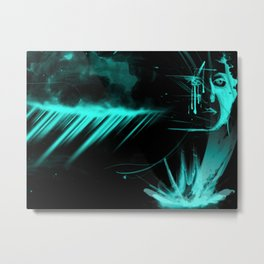 Blue Goddess Metal Print