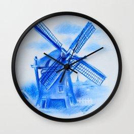 Drawing Delft-Style Windmill Wall Clock