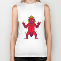 fat Biker Tanks featuring Fat Demon by  Grotesquer