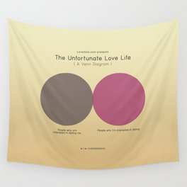 The Unfortunate Love Life (A Venn Diagram) Wall Tapestry