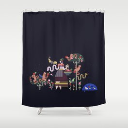 Monkeys and fruits Shower Curtain