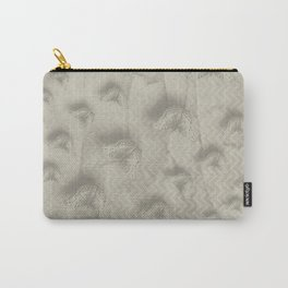 Butterfly swarm on textured chevron pattern Carry-All Pouch
