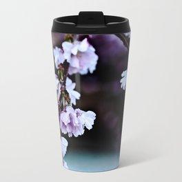 Cherry Blossom Flowers After Rain Travel Mug
