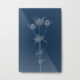 Milk Thistle Blueprint Metal Print