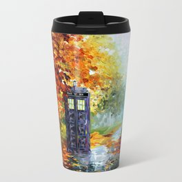 starry Autumn blue phone box Digital Art iPhone 4 4s 5 5c 6, pillow case, mugs and tshirt Travel Mug