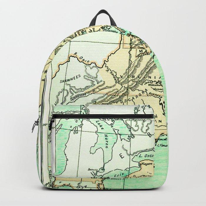 Vintage American Colonies Map - 1775 Backpack