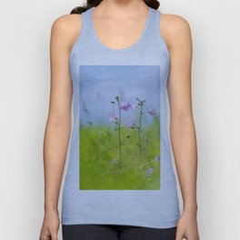 Pink flowers in nature Unisex Tank Top