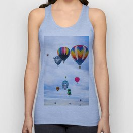 Cute seal, Wolf and Penguin Hot Air Ballons Unisex Tank Top