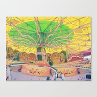 carnival Canvas Prints featuring Carnival by Jacqueline Drayer