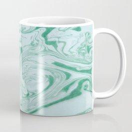 Marble Acrylic Jade Green Coffee Mug