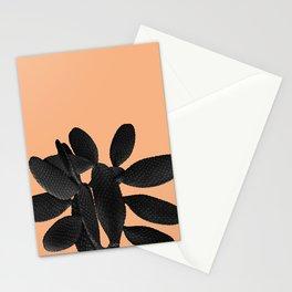 Black Pastel Orange Cacti Vibes #1 #plant #decor #art #society6 Stationery Cards