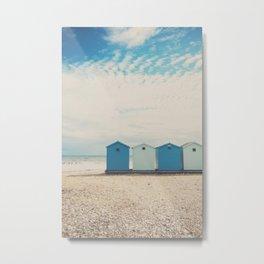 Charmouth beach huts Metal Print