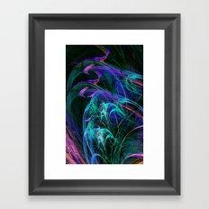 Fractal, blues Framed Art Print