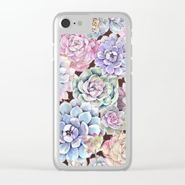 succulent allover Clear iPhone Case