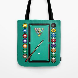 Billiards Table and Equipment Tote Bag