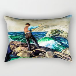 The Fisherman by George Bellows Rectangular Pillow