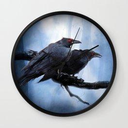 Hugin and Munin the crows Wall Clock