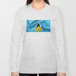 Saint Lucia Flag Long Sleeve T-shirt