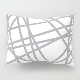 To The Edge Grey Pillow Sham