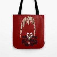 soul eater Tote Bags featuring maka albarn soul eater by Rebecca McGoran