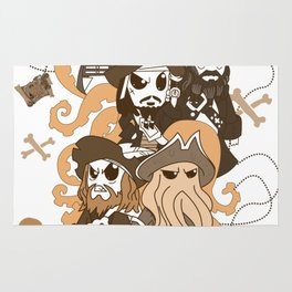 Time to pirates Rug
