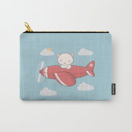 Kawaii Cute Flying Cat Carry-All Pouch