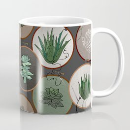 Succulent Embroidery Hoops Coffee Mug