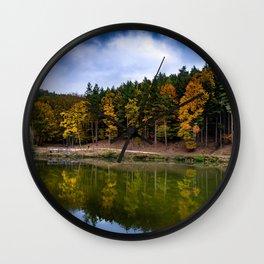 Autumn at the Lake Wall Clock