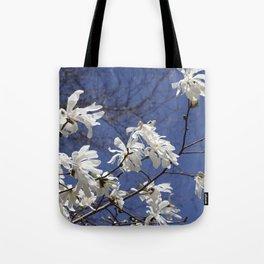 Star filled sky (Star Magnolia flowers!)      Edit Tote Bag