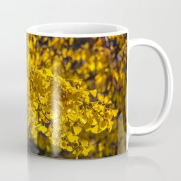 Yellow leaves shower Coffee Mug