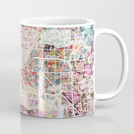 Las Vegas map Nevada Coffee Mug