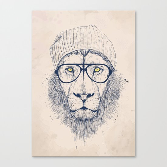 Cool lion Canvas Print