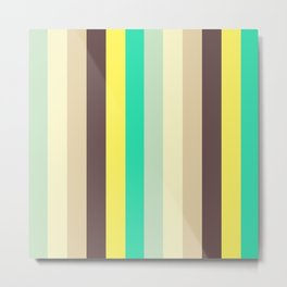 Wonderland Pastel Stripes Pattern Metal Print