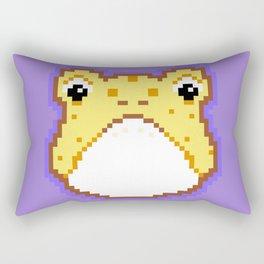 Pixel Froggy - Yellow Rectangular Pillow