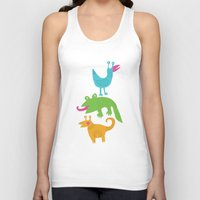 monsters Tank Tops featuring monsters by LOLIA-LOVA