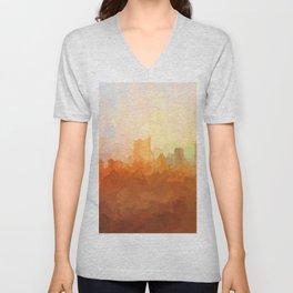Austin, Texas Skyline - In the Clouds Unisex V-Neck