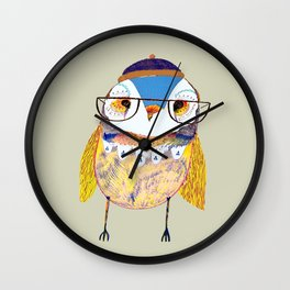 Rad Owl Wall Clock