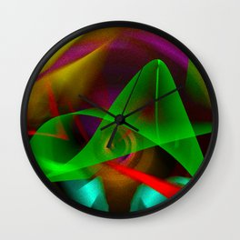 silent pointillism Wall Clock