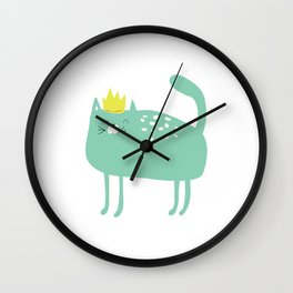 Princess Kitty Winkle Wall Clock