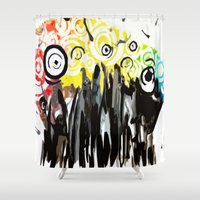 cityscape Shower Curtains featuring CityScape by JayTDesign