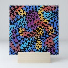 90s Leopard Colorful Sticker print Retro Throwback Mini Art Print
