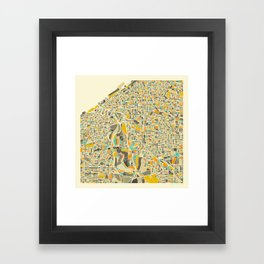 CLEVELAND MAP Framed Art Print