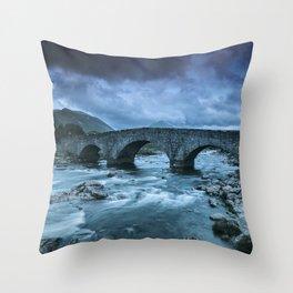 The Bridge at Sligachan Throw Pillow