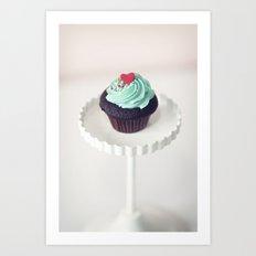 Lil' Heart Cupcake Art Print