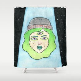 Not From Here Shower Curtain