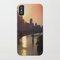 nashville iPhone & iPod Cases featuring Nashville Dusk by Andooga Design