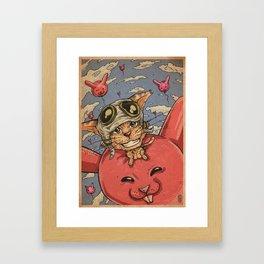 CNY Rabbit Framed Art Print